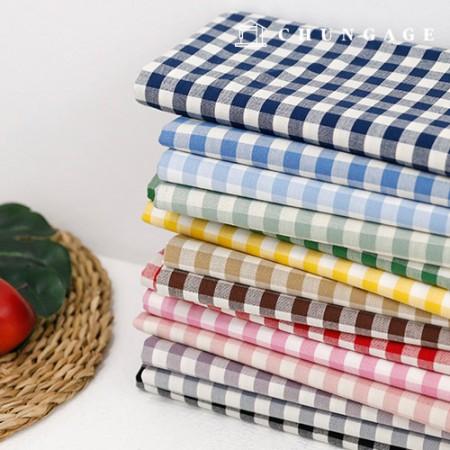 棉布20水色omb子格子布子布14种
