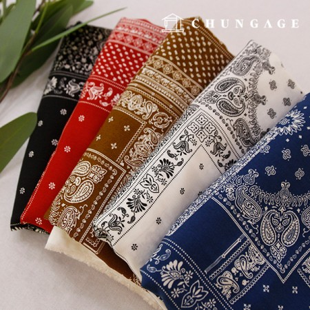 人造丝面料头巾布料佩斯利民族布料5颜色