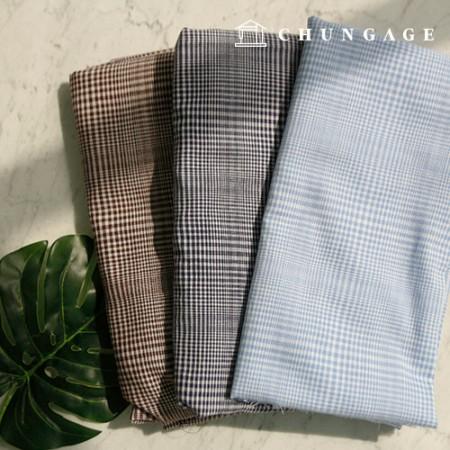奥伯尔染色的宽薄纱水洗薄纱棉织物格子3种
