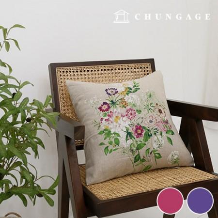 人造丝亚麻裁剪面料广泛的布料夏季大麻面料野花2种
