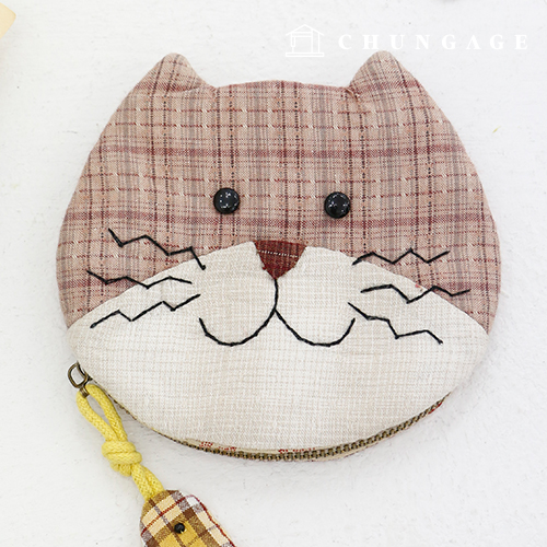 绗缝包DIY套装猫咪零钱包[CH-611770]