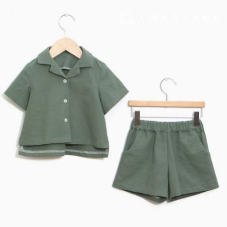 儿童上衣和下装的衣服样式[P1099]