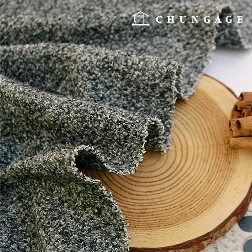 羊毛底纹毛圈面料冬呢子大衣裙子面料leo