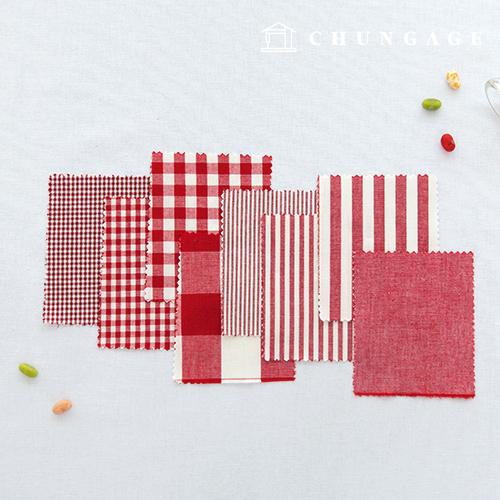 棉麻渐变色面料20色织布终止平纹条纹格子布8种红色