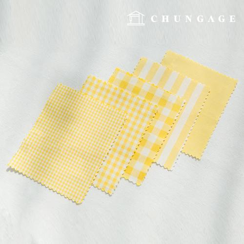 棉渐变色织物20色Ombre染色终止的平纹条纹格子布布料黄色5种类型