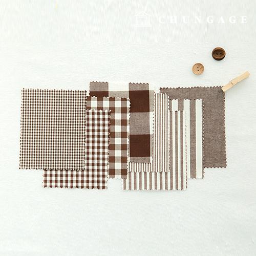 棉格子织物20计数奥伯尔染色取消纯条纹格子格子布咖啡色8种