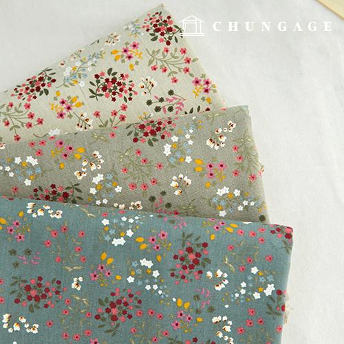 亚麻由11种宽幅织物制成的3种糖果花