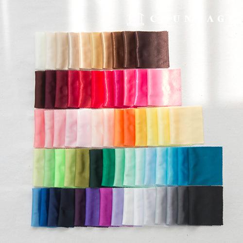 绸缎织物弹力蚕丝布Bodre Poly True丝织物64种